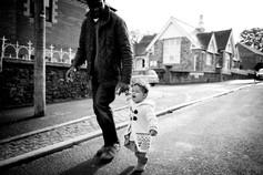 black family in the street