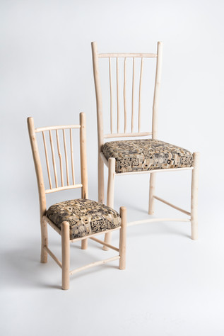 pair of hand made chairs