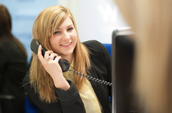Telephone booking staff