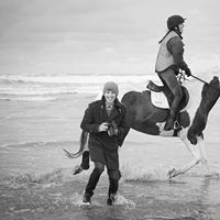 on location during horse photography at the beach