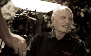 sir henry cooper on film set