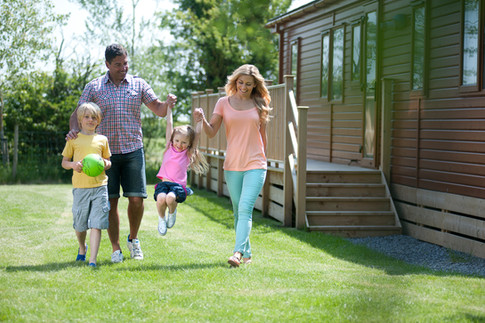 family at lodge park in somerset