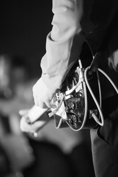 guitarist on stage close up