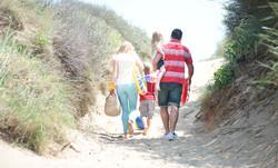 Family beach trip