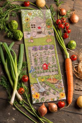 allotment vegetables cross stitch design