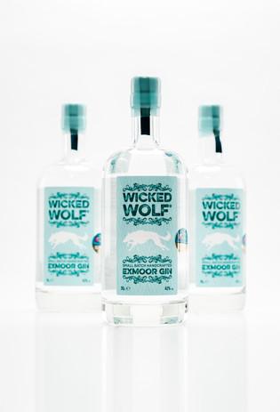 Wicked Wolf gin bottles