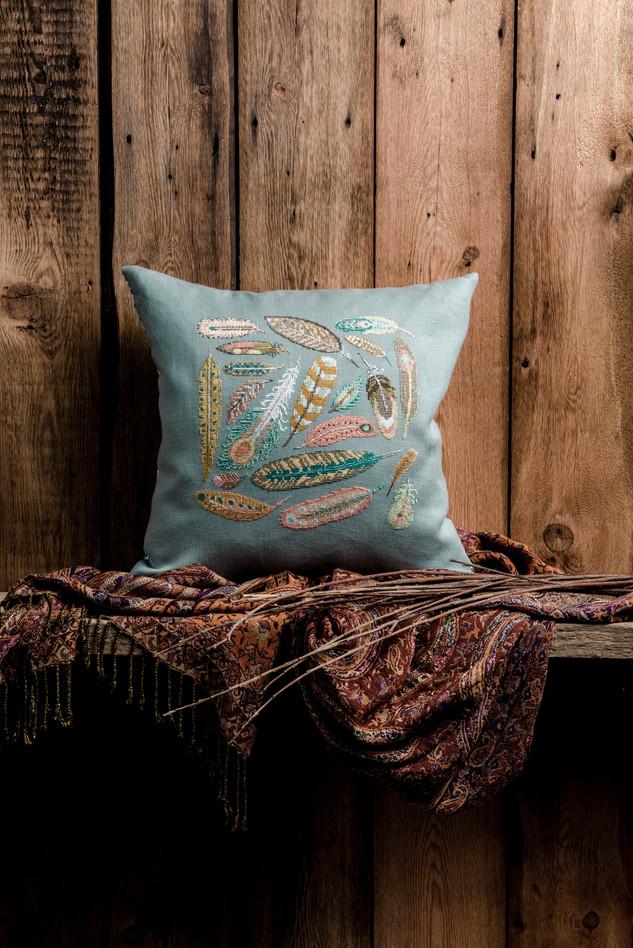 Cross stitched cushion