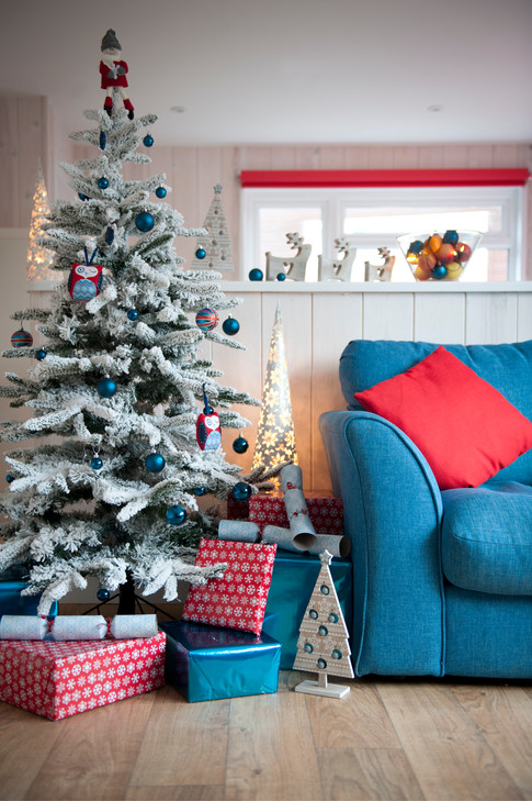 holiday villa with christmas decorations