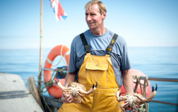 lobster fisherman with catch