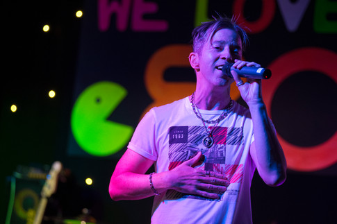Limahl singing on stage