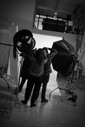 shooting fashion in the studio
