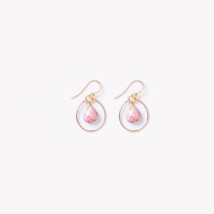 WL413 Petite Stella Orb earring pale pin