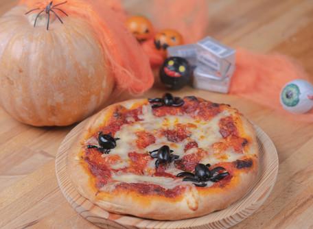 Especial Halloween con esta receta de pizza casera