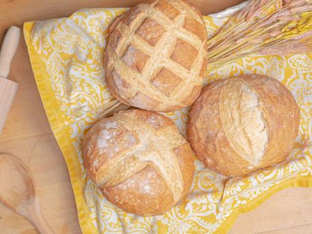 Receta de hogaza de pan casero. Fácil, deliciosa y… ¡con vídeo!
