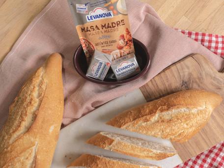 Receta para barras de pan casero con masa madre