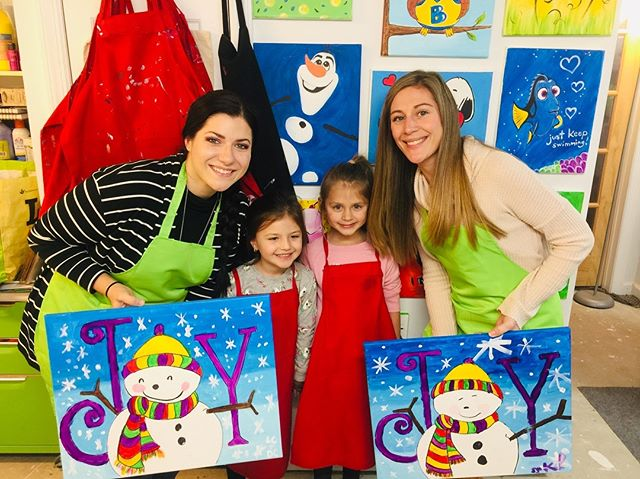 #mommyandme #paintnight #happyholidays20