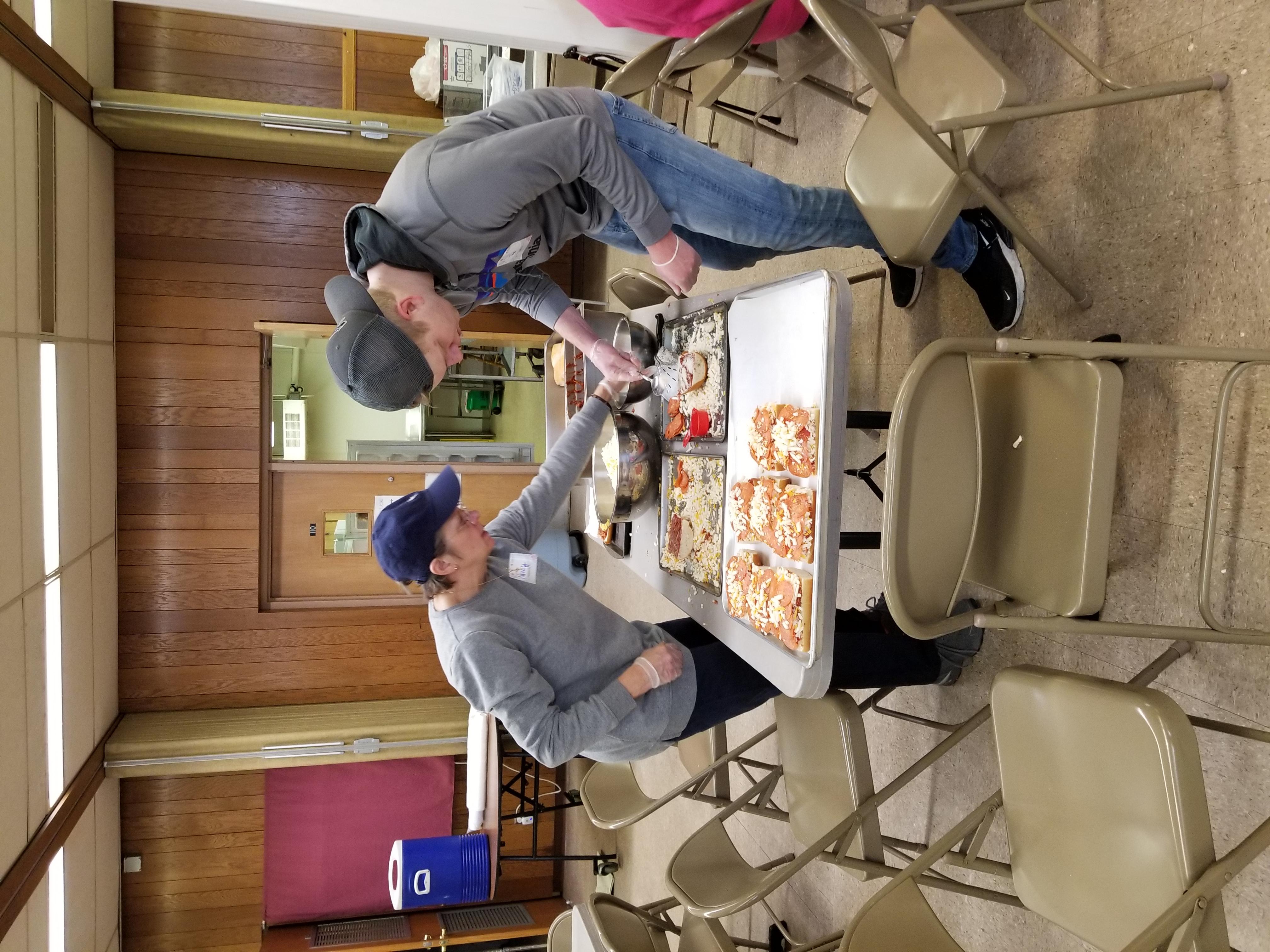 1-13-2020 Nancy & Joe making pizza melts