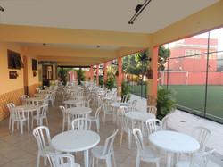 Salão do 1º Andar visto da piscina.