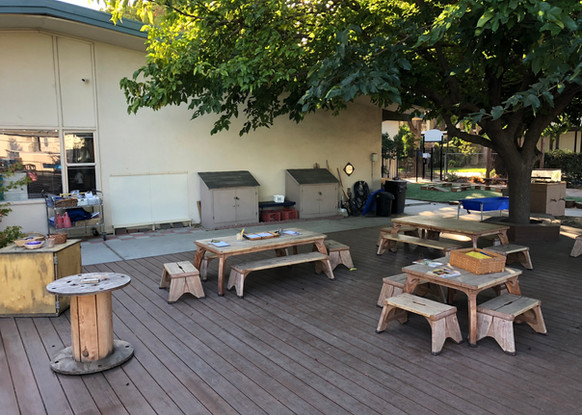 Writing and Woodworking Areas on Patio