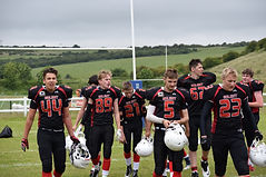 Solent Thrashers Academy Youth team walking off the pitch after a win