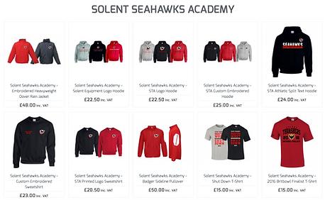 Solent Seahwks Merch
