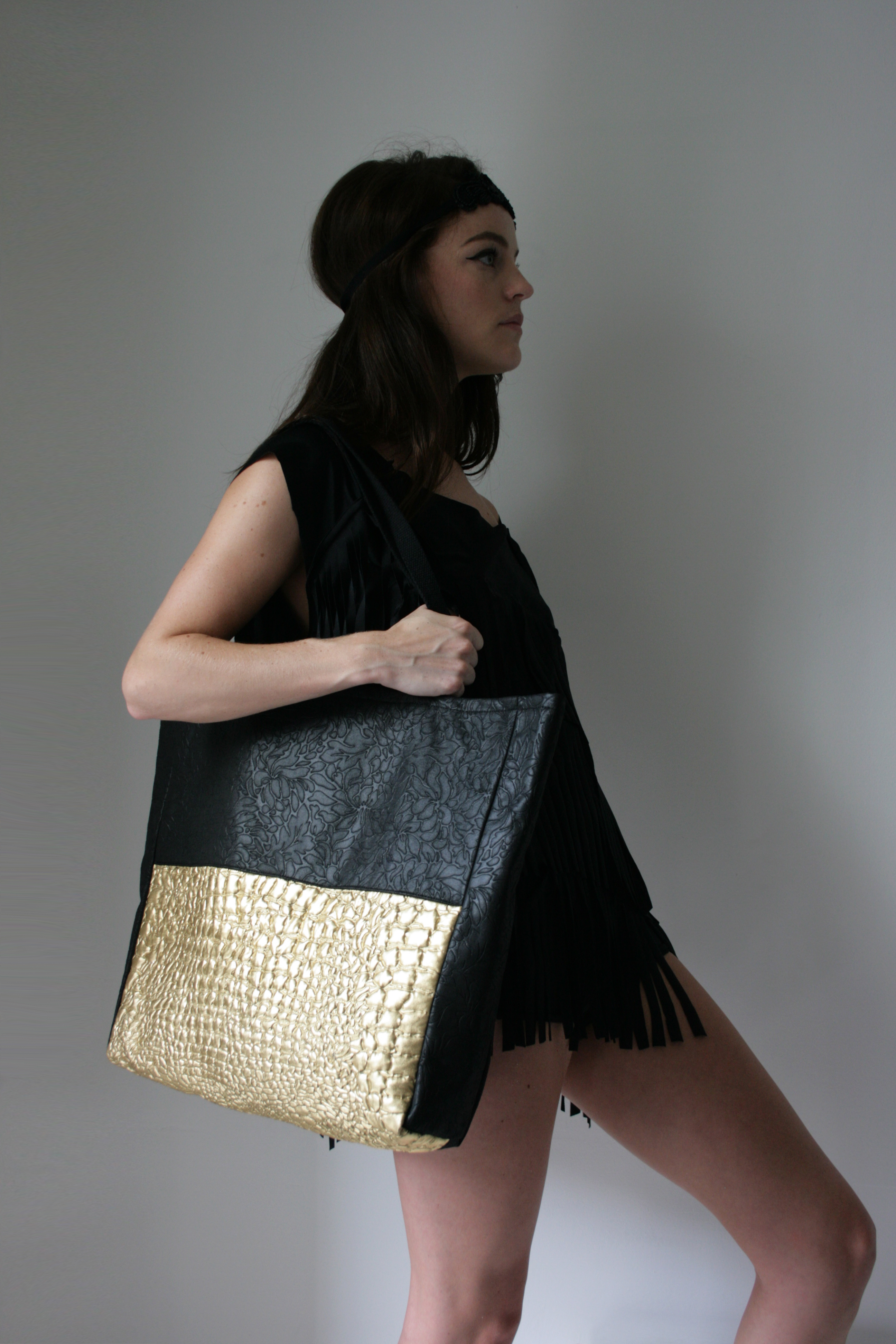 SS14 - Black and Gold Bag