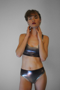 SS18- Silver Ombre 2 piece Swimsuit