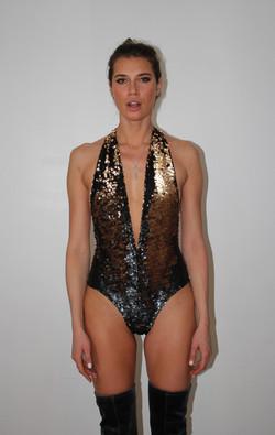 Gold/Brown Leotard Swim wear SS20