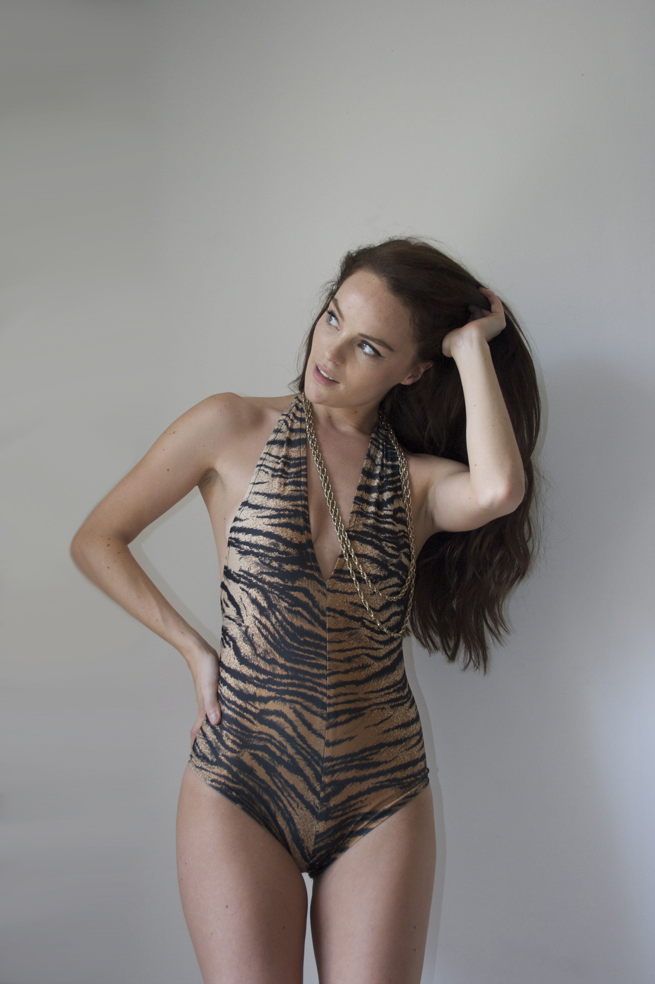 SS14 - Animal Halter Neck Swimsuit
