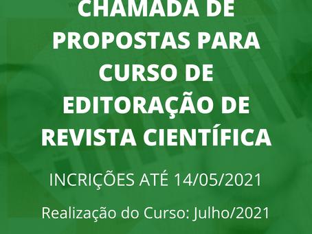 Chamada de Propostas para Curso de Editoração de Revista Científica