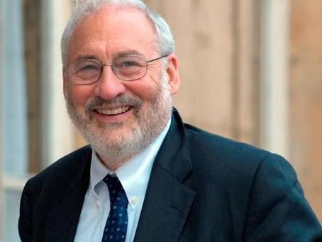 Reunião por videoconferência com o prêmio Nobel Joseph Stiglitz.