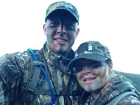 Josh and Margeaux Hunting.JPG