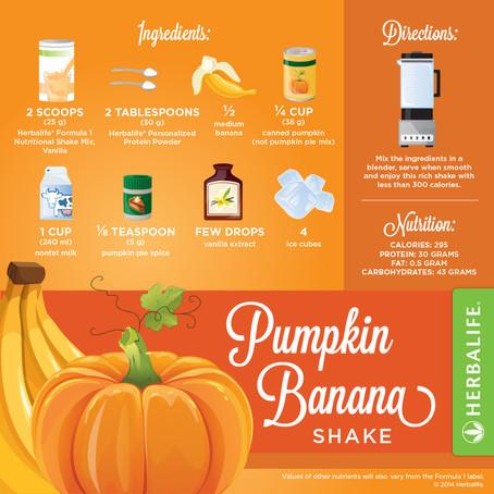 Herbalife Pumpkin Banana Shake Recipe