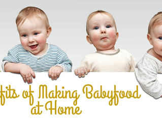 Benefits of Making Babyfood at Home