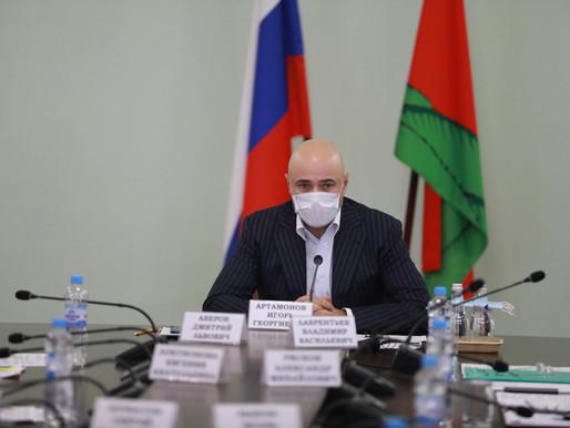 Игорь Артамонов провел рабочую встречу с представителями Липецкой областной Ассоциации промышленных