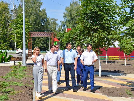 Проверили ход работ на Кузнецком пруду
