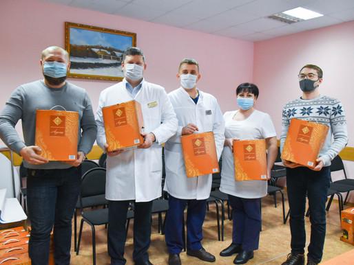 Подарки лебедянским врачам от индивидуальных предпринимателей