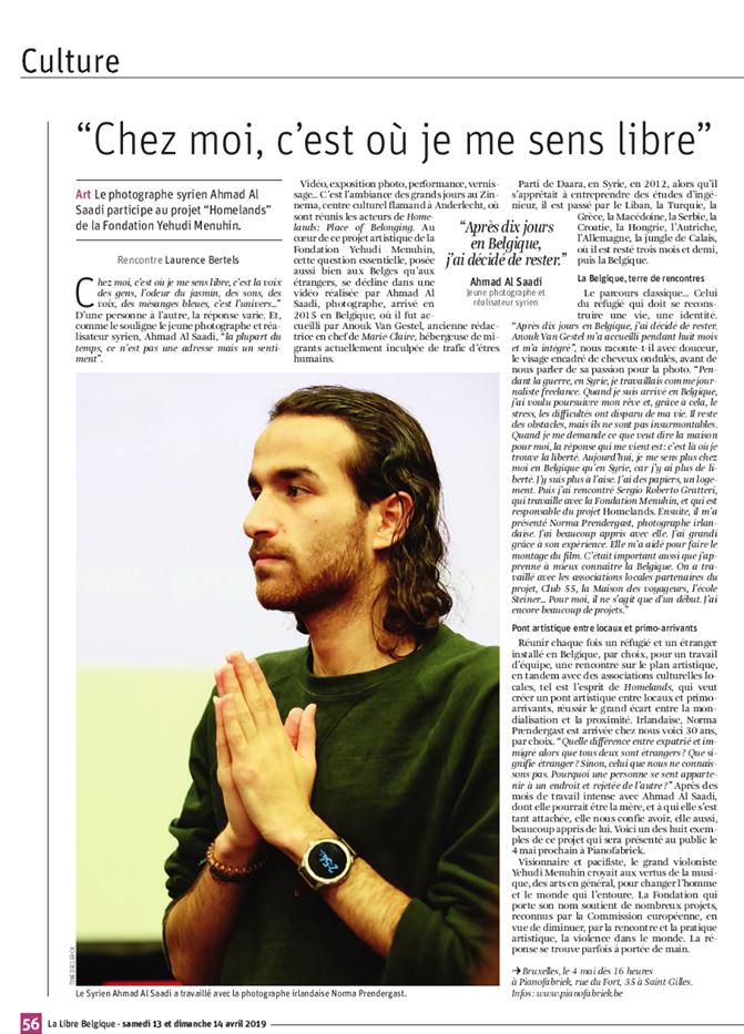 Article dans La Libre Belgique