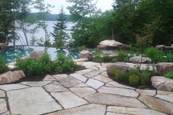 patio de pierres naturelles