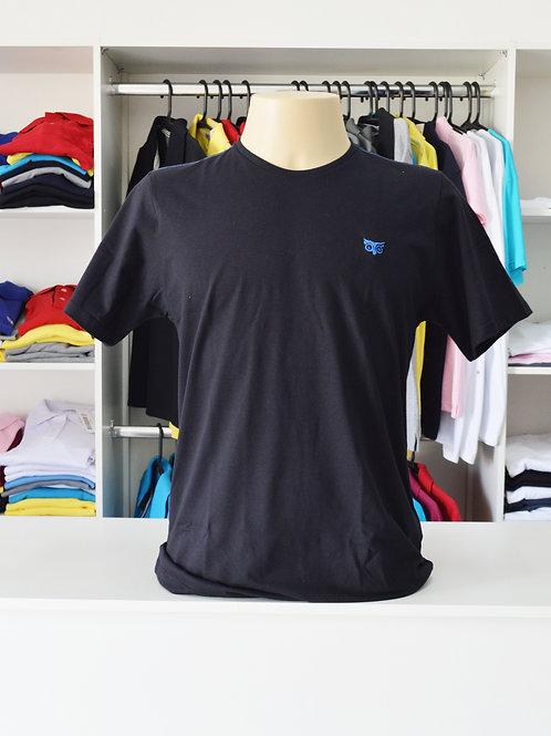 Camiseta Básica M/C Gola V 100% Algodão Unissex G1 ao G3