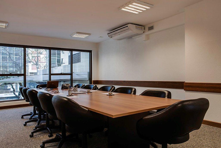 Auditório do escritório Matos & Wrege em Porto Alegre
