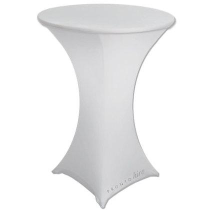 White Lycra Bar Table Cover