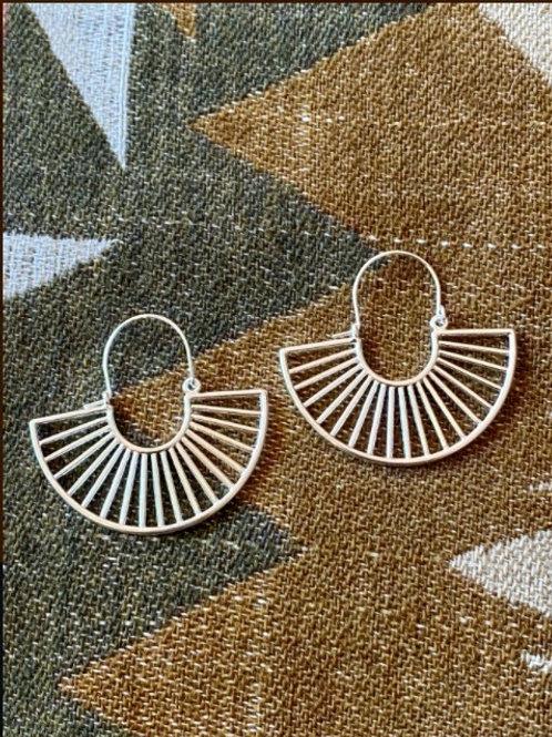 Sun Ray Hoop Earrings