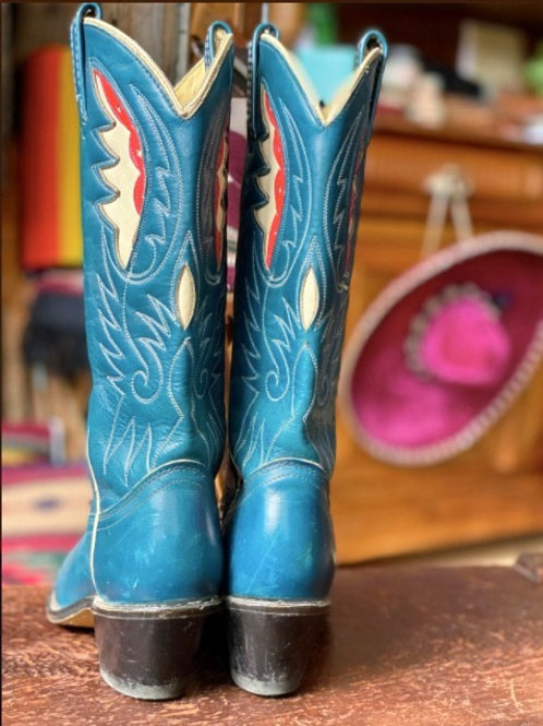 Vintage Turquoise Boots
