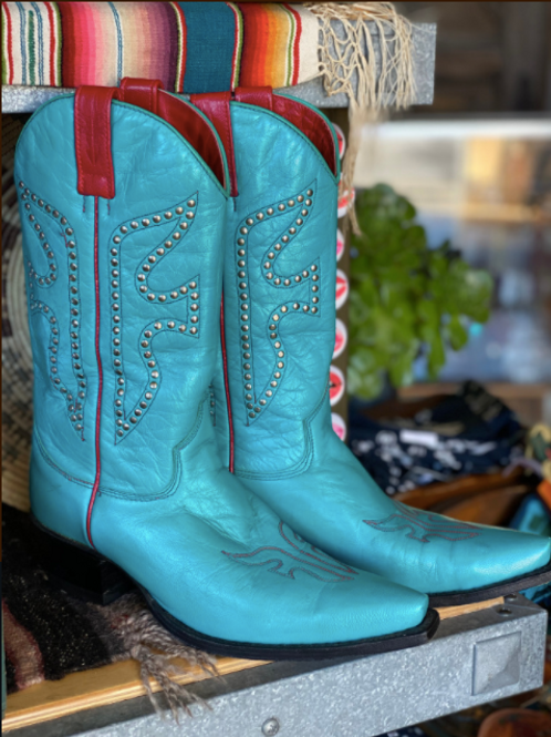 Frye Turquoise Cowboy Boots