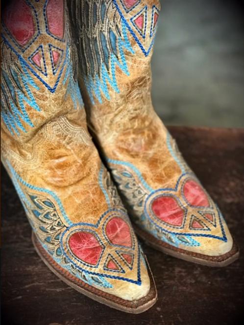 Peace & Love Cowboy Boots