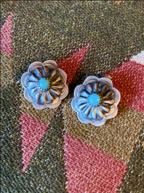 Navajo Concho Earrings