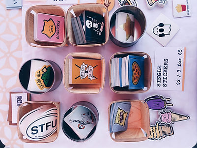 rad stickers + doodads