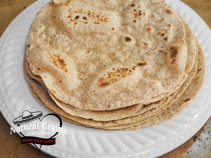 Healthy Whole Wheat Tortillas | All Natural | Non-GMO | Plant Based | 4 Ingr.