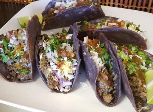 Ground Turkey Blue Tacos